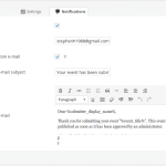The submission form notification settings