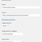 Add new feed screen